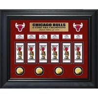 Chicago Bulls 6-Time NBA Champions Deluxe Gold Coin   Banner Collection d704bb4b6