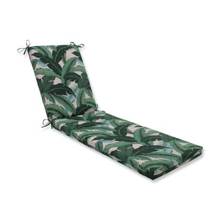 Pillow Perfect Outdoor / Indoor Swaying Palms Capri Blue Chaise Lounge Cushion 80x23x3