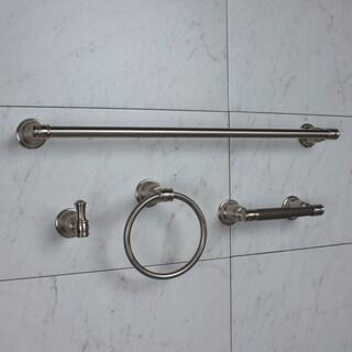 GlideRite 4-Piece Savannah Bathroom Hardware Accessory Set