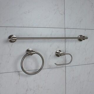 GlideRite 3-Piece Manhattan Bathroom Hardware Accessory Set