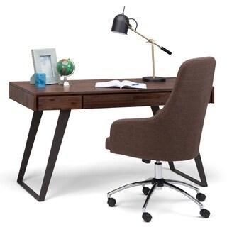 WYNDENHALL Mitchell Solid Acacia Wood Modern Industrial 54 inch Wide Writing Office Desk