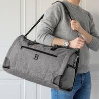 Personalized Grey Convertible Garment Bag/Duffel Bag