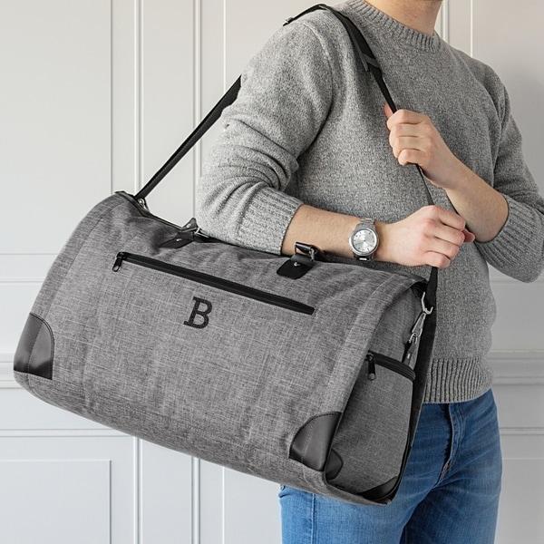 ccc50c57bf65 Shop Personalized Grey Convertible Garment Bag/Duffel Bag - Free ...