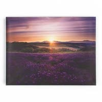 Graham & Brown Lavender Sunset Printed Canvas