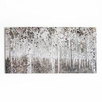 Graham & Brown Neutral Watercolour Woods Printed Canvas