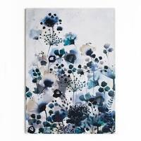 Graham & Brown Moody Blue Watercolour Printed Canvas