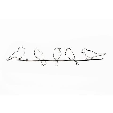 Graham & Brown Bird On A Wire Metal Wall Art