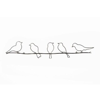 Graham & Brown Bird On A Wire Metal Wall Art