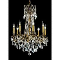 Fleur Illumination 8 light French Gold Chandelier