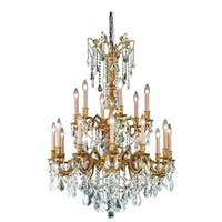 Fleur Illumination 18 light French Gold Chandelier
