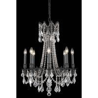 Fleur Illumination 8 light Dark Bronze Chandelier
