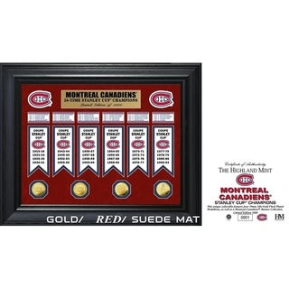 Montreal Canadiens 24-Time Stanley Cup Champions Deluxe Gold Coin & Banner Collection