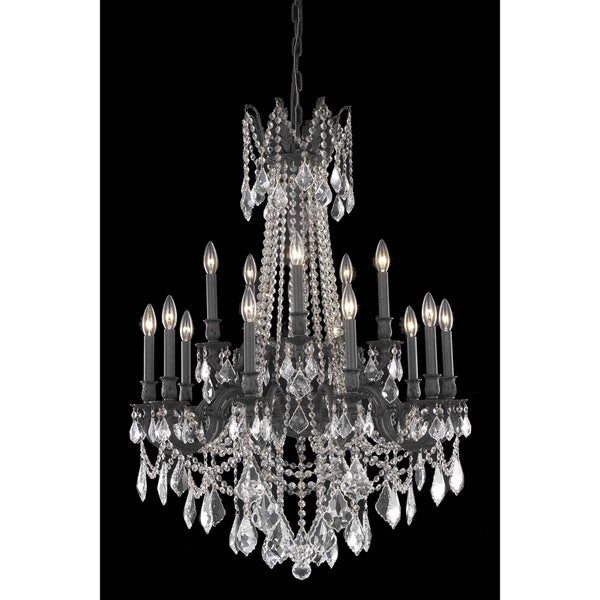 Fleur Illumination 15 light Dark Bronze Chandelier