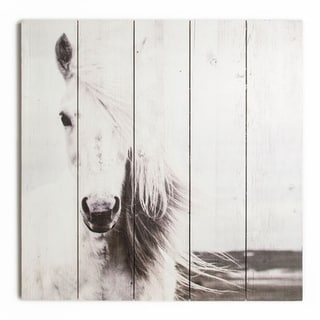 Graham & Brown Horse Print On Wood