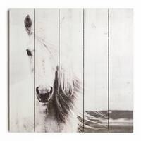 Graham & Brown Horse Print On Wood