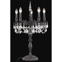 Fleur Illumination 5 light Dark Bronze Table Lamp
