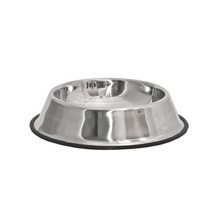 ALEKO Stainless Steel Pet Dog Cat Puppy Food Bowl 10 inch