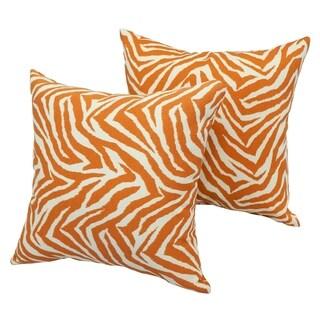 Zebra Sunrise 17-inch Indoor/Outdoor Throw Pillow (Set of 2)
