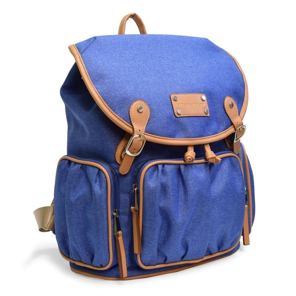 9a9d9b82d91 Shop Adrienne Vittadini Two-Tone Nylon Collection Backpack-Denim ...