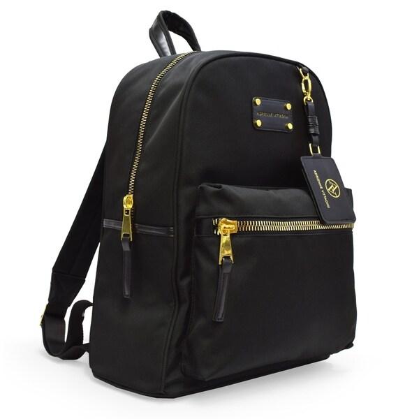 0045eed2ad29 Adrienne Vittadini Nylon Backpack with 13 Inch Padded Laptop Sleeve-Black