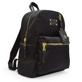 Adrienne Vittadini Nylon Backpack with 13 Inch Padded Laptop Sleeve-Black