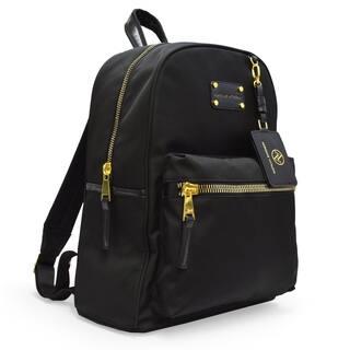 6d22835b9133 Adrienne Vittadini Nylon Backpack with 13 Inch Padded Laptop Sleeve-Black