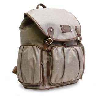 5bdc26a3d8bb Adrienne Vittadini Two-Tone Nylon Collection Backpack-Natural