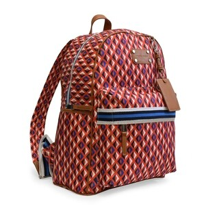 Adrienne Vittadini Smooth Backpack-Red Multi Color