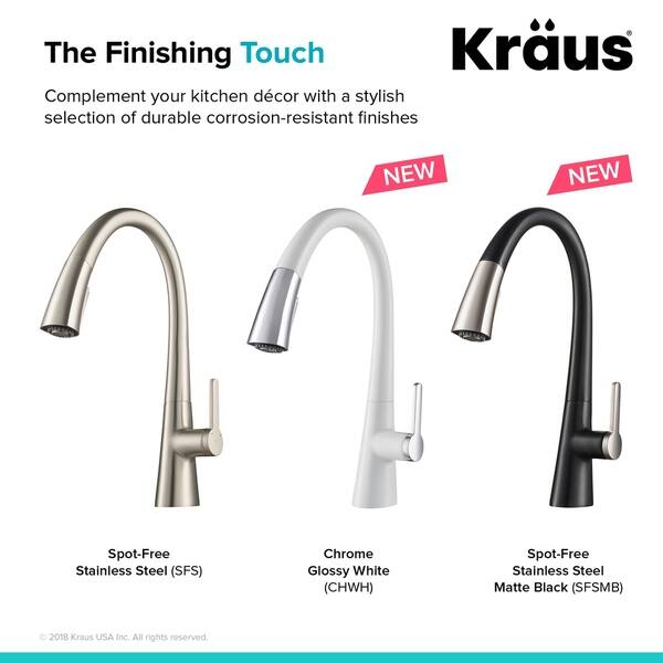 Shop Kraus KPF-1673 Nolen 1-Handle 2-Function Pull Down ...