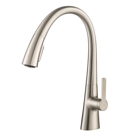 Kraus KPF-1673 Nolen 1-Handle 2-Function Pull Down Kitchen Faucet, Spot Free Stainless Steel, Chrome, Matte Black opt