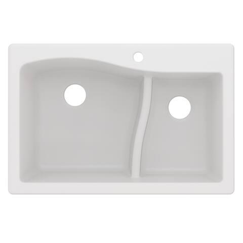 Kraus KGD-442 Quarza Undermount Drop-in 33 inch Granite Kitchen Sink