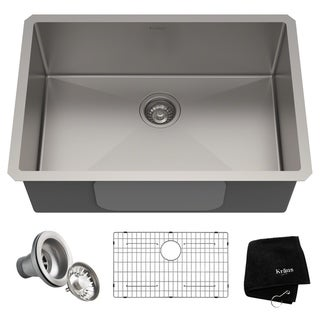 Kraus KHU100-28 Undermount 28 inch 1-Bowl Stainless Steel Kitchen Sink