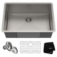 KRAUS Standart PRO 28-inch 16 Gauge Undermount Single Bowl Stainless Steel Kitchen Sink