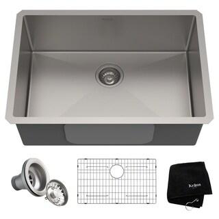 Kraus KHU100-28 Standart PRO Undermount 28-inch 16 gauge Single Bowl Satin Stainless Steel Kitchen Sink
