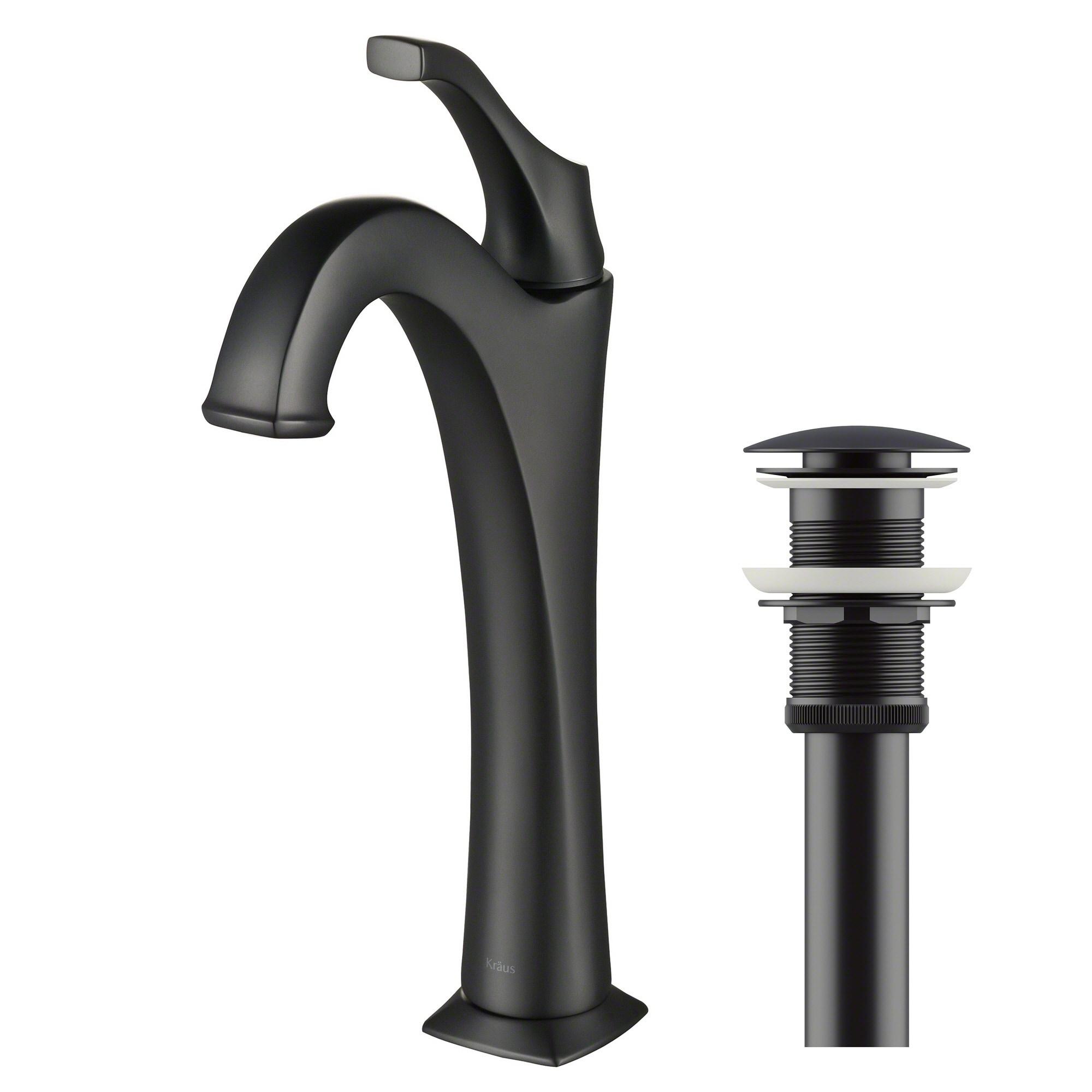 Kraus KVF 1200 Arlo Single Hole Single Handle Bathroom Vessel Faucet With  Drain Assembly