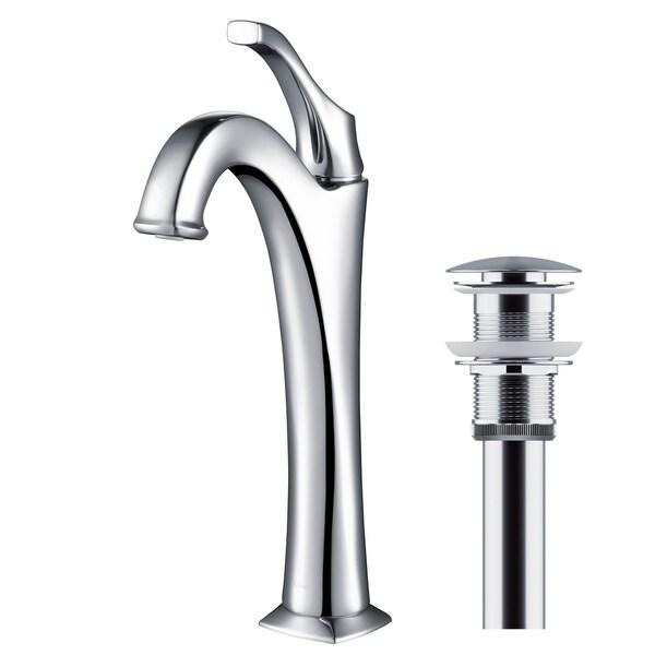 Kraus KVF-1200 Arlo Single Hole Single-Handle Bathroom Vessel Faucet with Drain Assembly