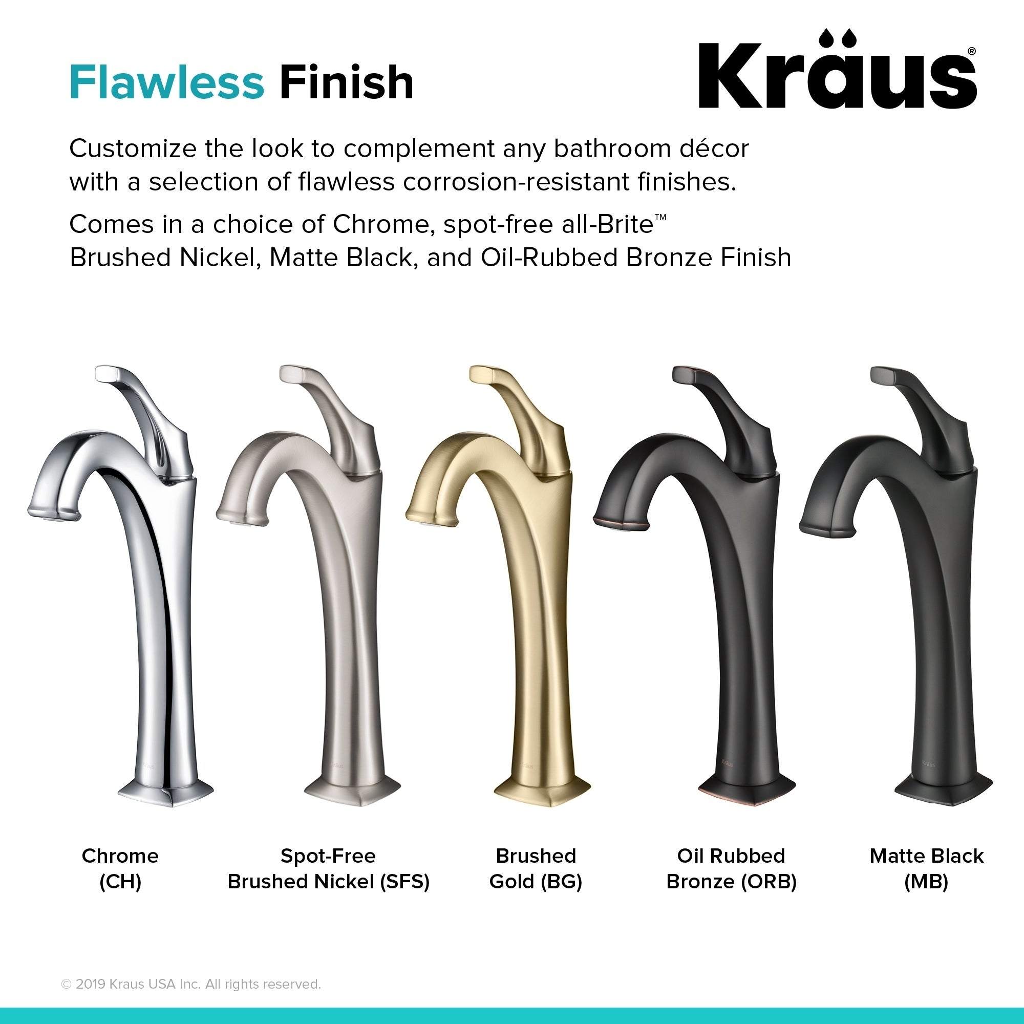 Kraus KVF-1200 Arlo Single Hole 1-Handle Bathroom Vessel Faucet, Drain