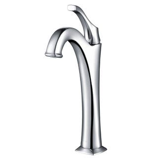 Kraus KVF-1200 Arlo Single Hole 1-Handle Bathroom Vessel Faucet, Drain
