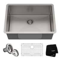 KRAUS Standart PRO 26-inch 16 Gauge Undermount Single Bowl Stainless Steel Kitchen Sink