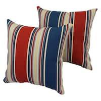 Yacht Club 17-inch  Indoor/Outdoor Throw Pillow (Set of 2)