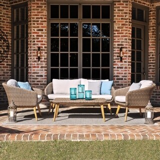 Harper Blvd Allerton Natural Eucalyptus Outdoor 4-Piece Set