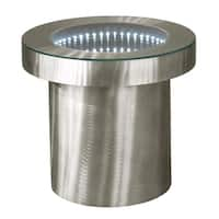 Infinity Tunnel Contemporary Metal End Table