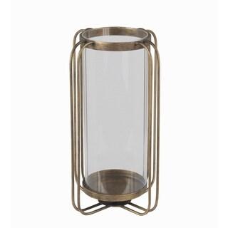 Privilege large iron candle lantern. Featuring Metal body, 8x8x13.