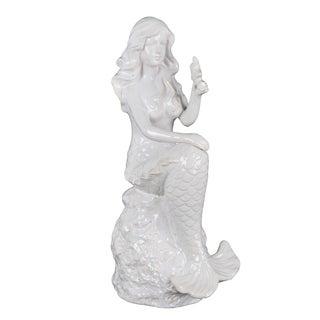 Privilege ceramic small mermaid. Featuring Beautiful sitting mermaid, 7x5.5x14.5.
