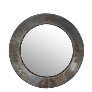 Privilege large aluminum round mirror.