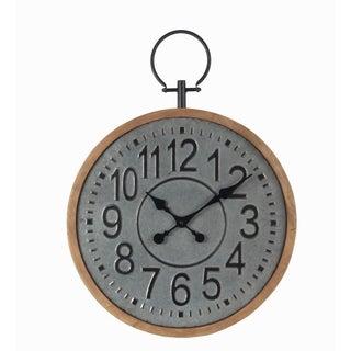Privilege large galvanized clock. Featuring Numeral dial, 19.5x2x22.