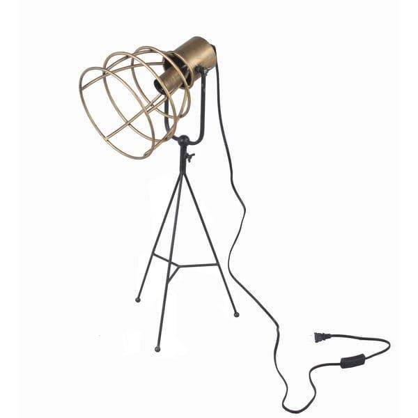 Privilege medium industrial table lamp. Featuring Metal adjustable head, 9x9x29.5.