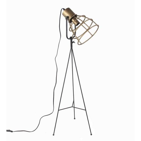 Privilege large industrial floor lamp. Featuring Metal adjustable head, 13x10x45.5.