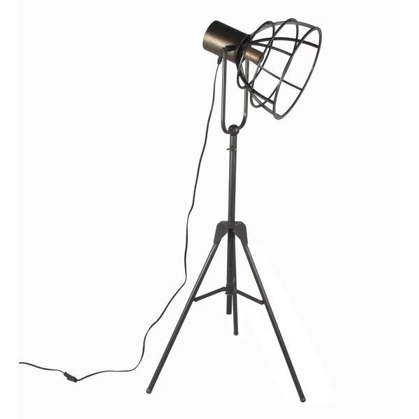 Privilege large industrial floor lamp. Featuring Metal adjustable head, 23x19x53.