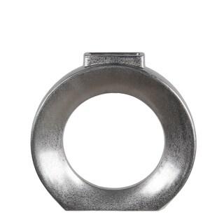 Privilege metallic small ceramic vase. Featuring Solid ceramic body, 15x3.5x15.